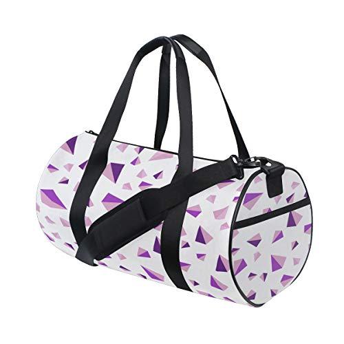 - Tote Bags Durable Yellow Triangle Geometric Shape Travel Duffel Bags Lightweight Fitness Duffel Bag For Teen Kids Fitness Bag Outdoor Work School Rucksack