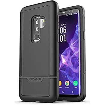 f89a33b7d2c5c9 Encased Galaxy S9 Plus Tough Case Black, Ultra Durable Full Body Protective  Cover (Heavy