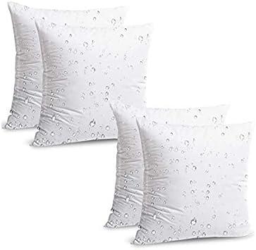 Amazon Com Izo Home Goods Outdoor Decorative Throw Pillow Inserts 18 X18 4 Pack Garden Outdoor