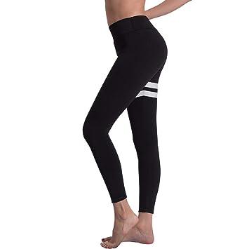 Gilroy Leggings de Yoga para Mujer, a Rayas, Delgados, para ...