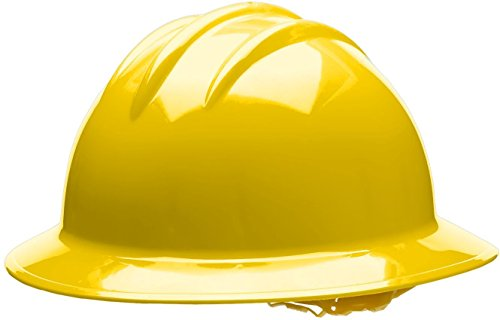 (Bullard 33YLP Classic Full Brim Style Hard Hat, 6 Point Pin Lock Suspension, Yellow, One Size)