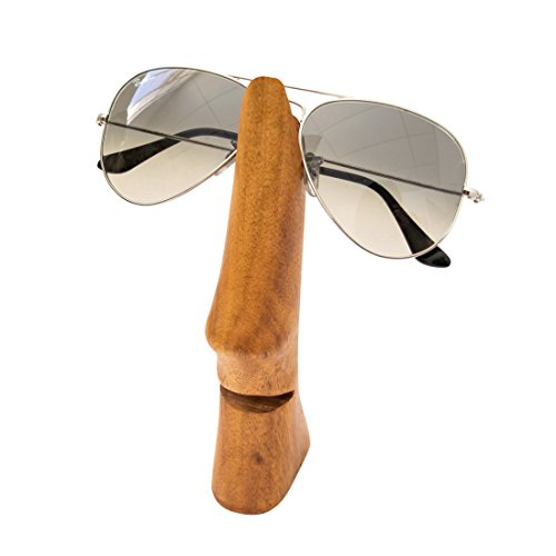 Rustic Wood Handcrafted Nose Eyeglass Holder Business Card Holder by Hide & - 10 Top Oakley Sunglasses