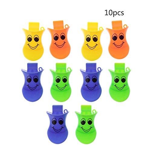 Seaskyer 10Pcs Plastic Duck Quacker Whistles Party Favour Bag Filler Children Kids Toys -
