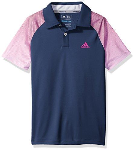 adidas Golf Boys Novelty Polo Shirt, Dark Slate, Large