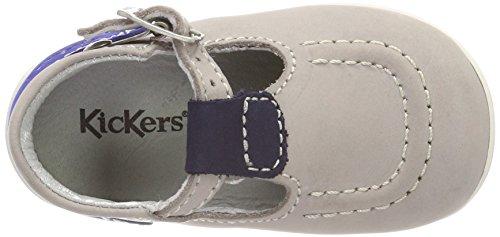 Kickers Unisex Baby Bonbek Sandalen Gris (Gris Marine Bleu)