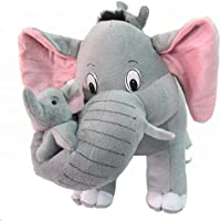 Taddy Bear yashika toys Mother Elephant with 2 Babies (Stuffed) 38 cm - Grey