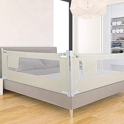 Greensen - Barrera de cama para cama infantil (antideslizante, 180/200 cm, para todos los colchones) beige beige Talla:150 cm