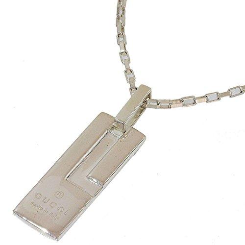 (グッチ)GUCCI Gロゴ プレート ネックレス SV925 50cm 箱 中古 B07C9FWSF8