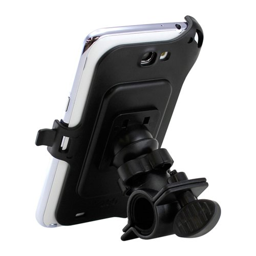 Black Non-Retail Packaging Gearonic AV-5297PUIB Bike Bicycle Handlebar Mount Back Cover Holder For Samsung Galaxy Note 2 II