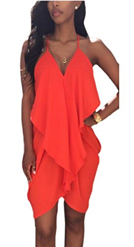 1 Mini Dress Casual Deep Jaycargogo Bodycon V Neck Womens Loose wUWq1R