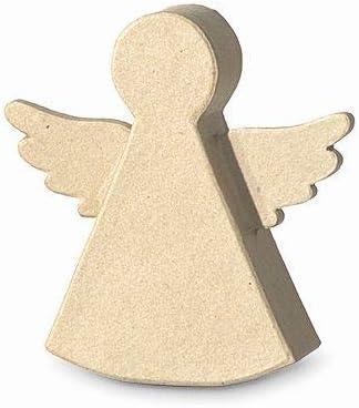 12 x 12 x 3 cm Efco Angel Silhouette 11,5 x 12 x 2,5 cm Papier-M/âch/é Brown