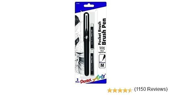 Pentel Arts Bol/ígrafo de bolsillo GFKP3BPA incluye 2 recambios de tinta negra