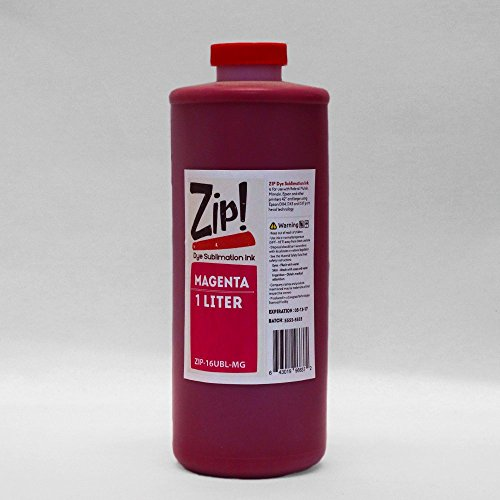 Magenta Liter Bottle - ZIP Dye Sublimation Ink for Roland, Mutoh, Mimaki and other printers running DX4, DX5 and DX7 print heads