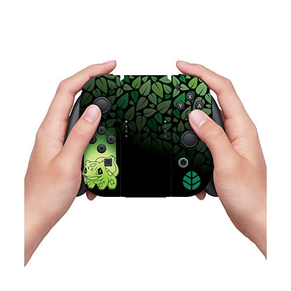 "Controller Gear Officially Licensed Nintendo Pokémon Switch Skin & Screen Protector ""Bulbasaur Elemental Set 1"" 5"