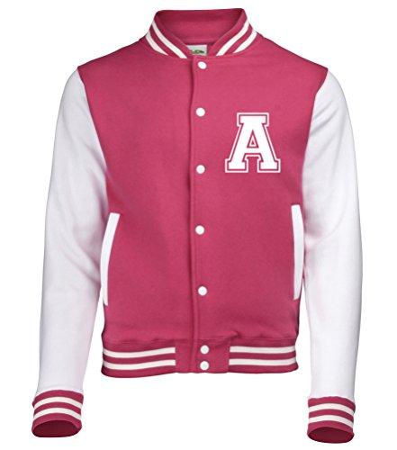 Colori Con Anteriori Varsity Baseball In Fuchsia Iniziale Da Diversi Su giacca Solo Personalised Disponibile Adulti college HTFwY6