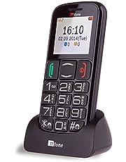 TTfone Mercury 2 lättanvänd seniormobiltelefon med stora knappar – enkel, upplåst, SIM-fri – svart