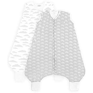 Grey Bicycle Leg Sleep Bag Baby Wearable Blanket (2-3 T) BaeBae Goods Sleep Bag Sack for Big Kids – Toddler Sleeping Bags – Pure Cotton Sleep Bag with Openings – Unisex Zip Up Breathable Sleepers