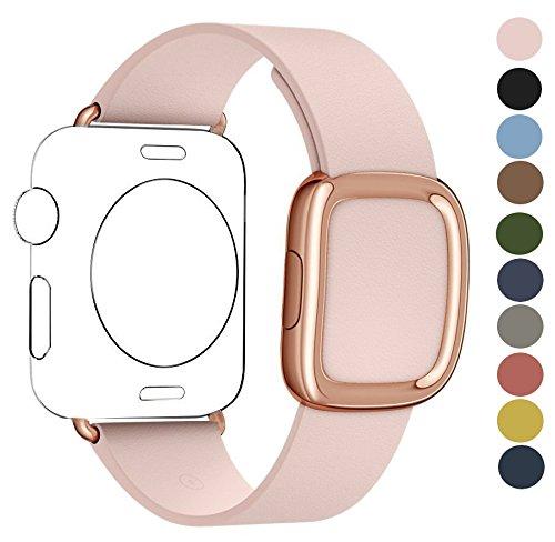 JSGJMY Apple Watch Band 38mm Cuff Leather Loop Original Modern Buckle With (3 Steel Ladies Watch)