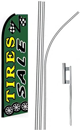 4 four TIRES SALE drkgr//yel 15 Swooper #4 Feather Flags KIT