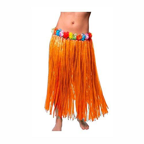 Falda Hawaiana Adulto Hula Naranja (80 cm): Amazon.es: Juguetes y ...