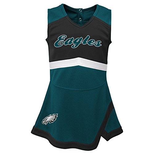 Outerstuff NFL NFL Philadelphia Eagles Kids & Youth Girls Cheer Captain Jumper Dress Jade, Youth Large(14)