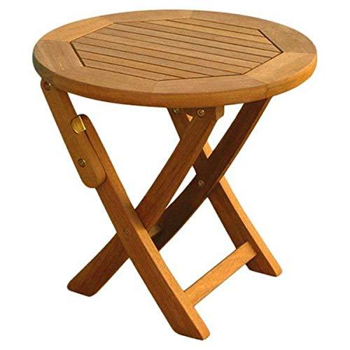 Balau Wood - Breakwater Bay Sabbattus Balau Hardwood Round Dual Natural Outdoor Stain Folding Side Table + Basic Design Concepts Expert Guide