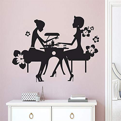 pabear Wall Quotes Decal Wall Stickers Art Decor Manicure Nails Salon Creative Decoration Nials Manicure Window Sticker Nails -