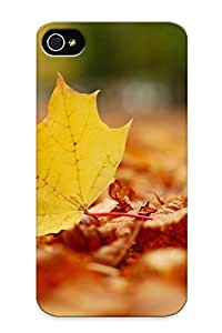 For Iphone 4/4s Premium Tpu Case Cover Rusty Leaves Protective Case