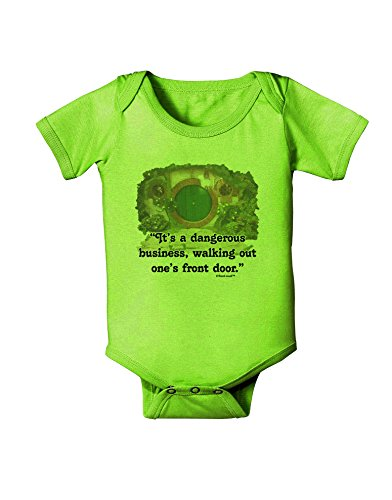 TooLoud Dangerous Business Baby Romper Bodysuit - Lime Green - 12 Mos