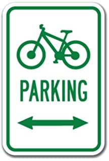 Real metal bike route sign 24x18 inches! Unused bike route street marker sign