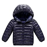 Little Kids Winter Warm Coat,Jchen(TM) Clearance! Baby Kids Little Boy Girl Autumn Winter Down Jacket Coat Hooded Zipper Keep Warm Children Outwear for 1-8 Years Old (Age: 12-18 Months, Dark Blue)