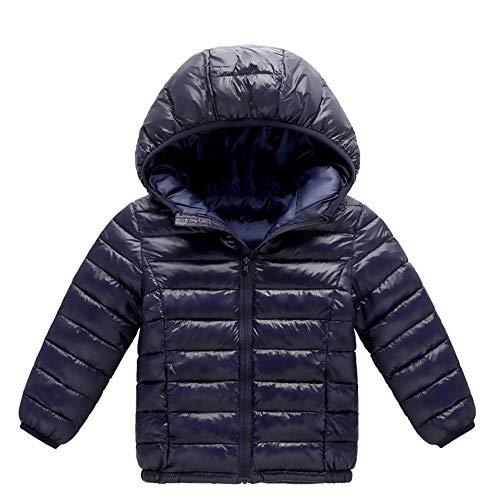 VEKDONE Unisex Baby Fleece Cotton Hooded Jacket Outerwear Duffle Zipper Winter Coat
