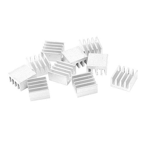 10 Pcs Silver Tone Aluminum Radiator Heat Sink Heatsink 9x5x9mm
