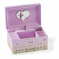Joyero infantil Lucy Locket Fairy Tale Kids - Caja de música rosa brillante para niños con soporte para el anillo