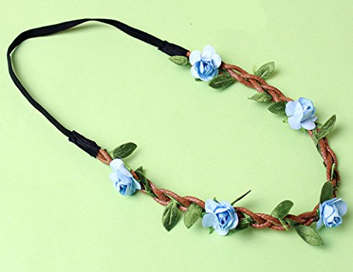 Topstore Womens Flower Garland Handmade Hairband for Decoration