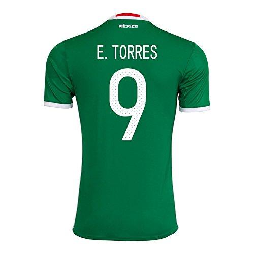 ミュートメッセンジャーするE. Torres #9 Mexico Home Jersey Copa America Centenario 2016 / サッカーユニフォーム メキシコ ホーム用