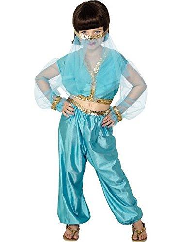 Smiffy's Arabian Princess Costume, Blue, Medium (Arabian Costumes For Girls)