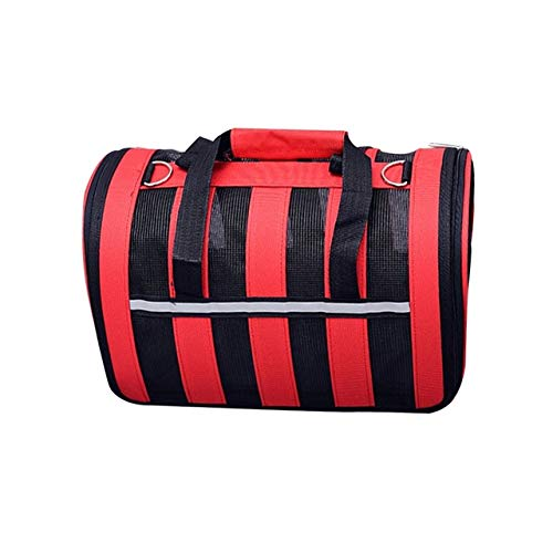 Red Large Red Large Pet Handbag, Cat and Dog Carrier Airline Approved Pet Carrier Out Travel Shoulder Bag (Multiple colors and Multiple Sizes)
