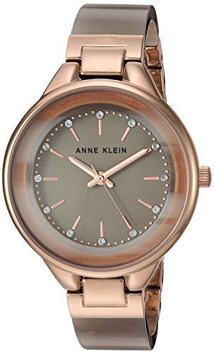 Anne Klein Women's Swarovski Crystal Accented Resin Bangle Watch