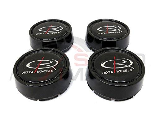 Rota Wheels Replacement Wheel Center Caps - Moda - Gloss Black - Set of 4 Caps (Rota Wheel Center Cap compare prices)