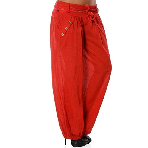 Harem Aladin Chic Autunno Moda Pantaloni Rot Libero Vita Tempo Pantaloni Double Pantalone Breasted Pantalone Cute Donna Tasche Primaverile Cintura Larghi Elastica Due Pantaloni Dei Pantaloni Inclusa 5wAxqnPWS