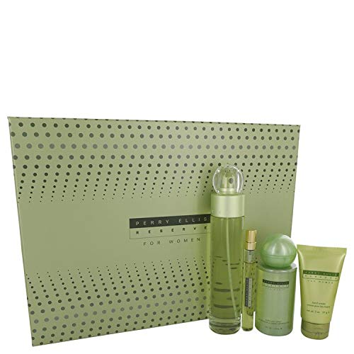 Gift Set -- 3.4 oz Eau De Parfum Spray+ .33 oz Mini EDP Spray + 4 oz Body Mist Spray + 2 oz Hand Cream ()