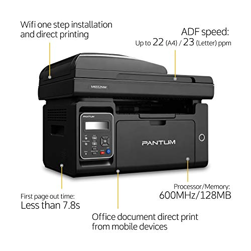 Pantum M6552NW Monochrome Laser Multifunction Printer with Wireless Networking Mobile Printing Large Paper Capacity by Pantum (Image #1)
