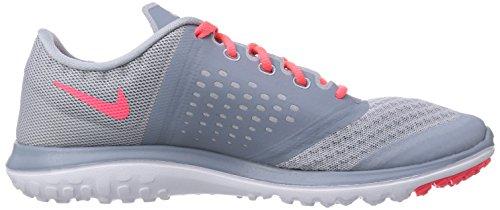 Nike FS Lite Run 2 Damen Laufschuhe Mehrfarbig (Lt Mgnt Gry/Hypr Pnch-Mgnt Gry)