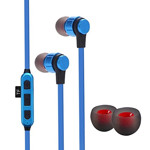 Price comparison product image Boofab Wireless Bluetooth Headphones, Bluetooth 4.2 Earbuds Sport Stereo Headset,  Noise Cancelling Sweat Proof Earphones (Blue)