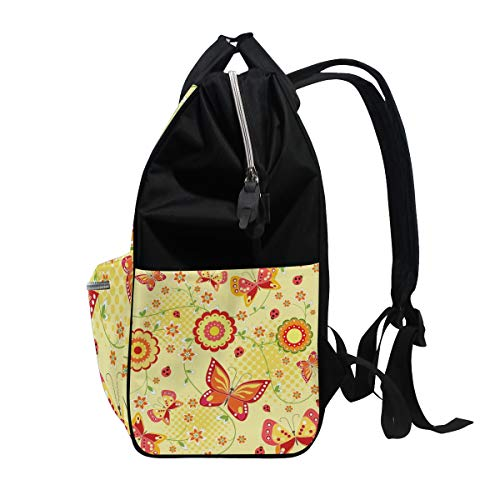 Bag Large Multi3 Canvas Butterfly Muti Capacity Bag Function Mummy Travel Backpack Women for Colorful qAx1zA