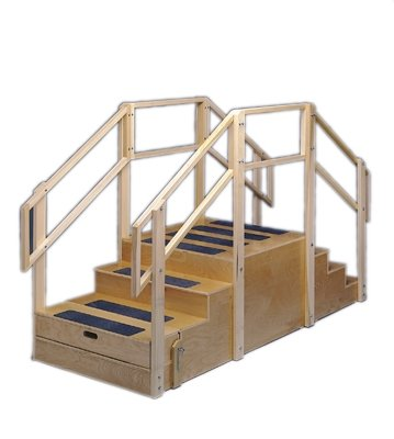 Training Stairs, Straight   2 And 3 Steps With Platform, 55u0026quot; L X  30u0026quot