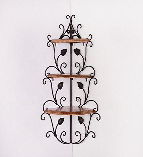 Woodkartindia Antique Floating Corner Wall Shelf, Wall Bracket for Living Room, Office Wall, Kitchen Wall