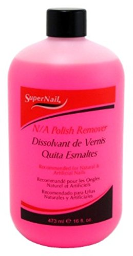 Super Nail Acetone Polish Remover, 16 Ounce
