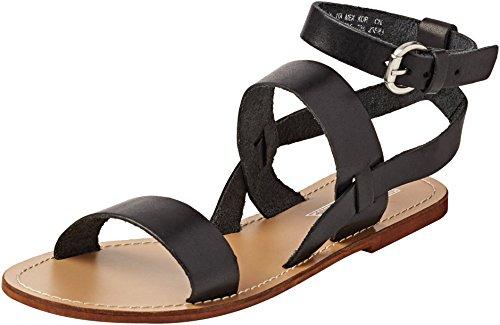 Springfield 5.G.Sandalia BS Hebilla-Negra-Plan, Zapatos para Mujer Black